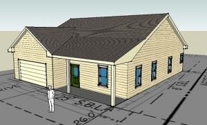 Exempel på hus som har gjort i Google SketchUP